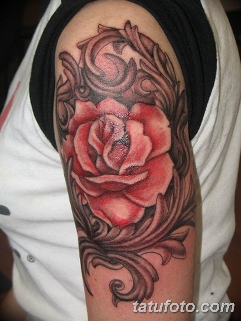 Фото красивые розы тату 12.08.2019 №048 - beautiful roses tattoo - tatufoto.com
