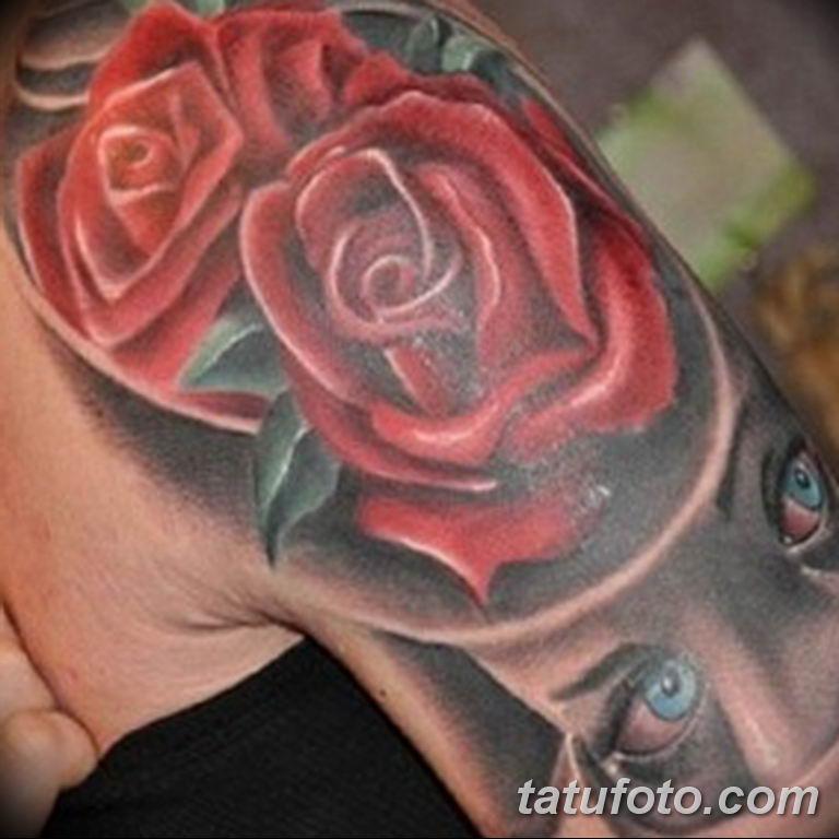 Фото красивые розы тату 12.08.2019 №050 - beautiful roses tattoo - tatufoto.com