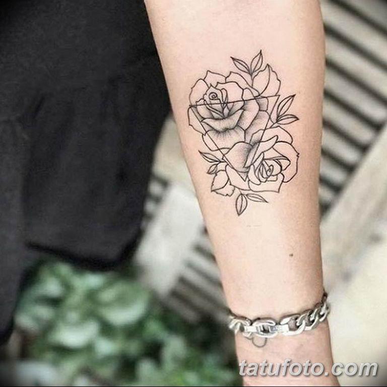 Фото красивые розы тату 12.08.2019 №071 - beautiful roses tattoo - tatufoto.com