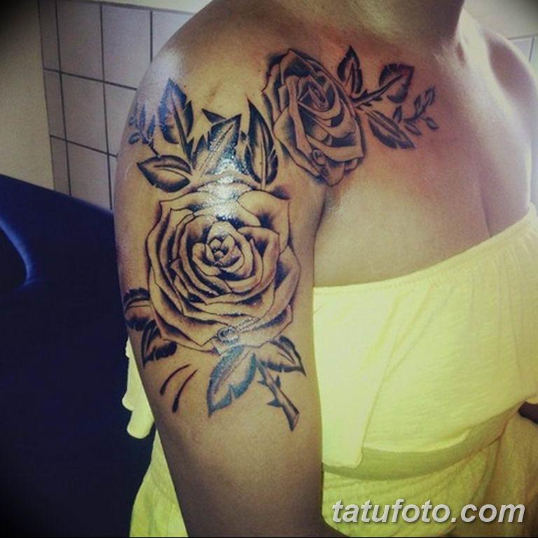 Фото красивые розы тату 12.08.2019 №088 - beautiful roses tattoo - tatufoto.com
