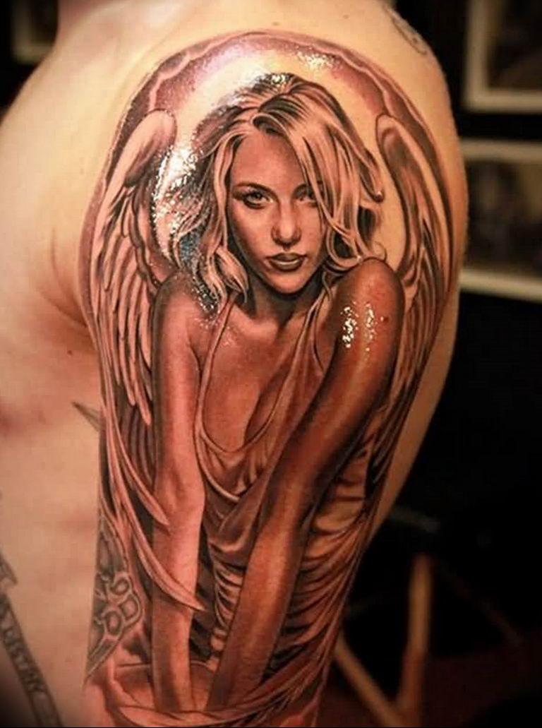 Фото красивые тату ангелов 12.08.2019 №007 - beautiful angels tattoos - tatufoto.com