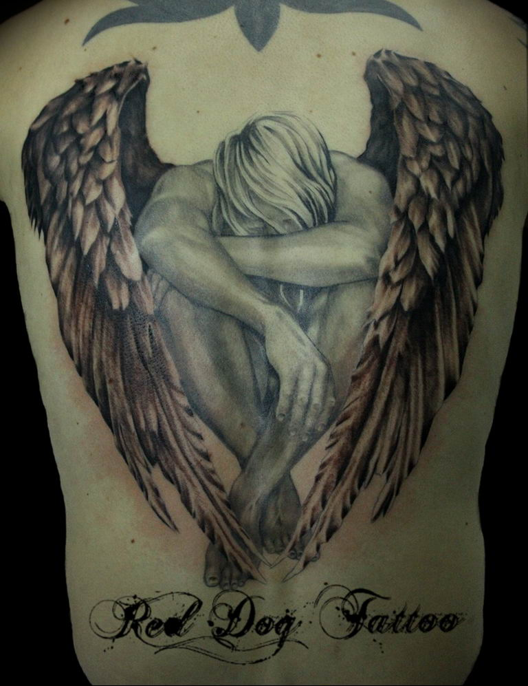 Фото красивые тату ангелов 12.08.2019 №020 - beautiful angels tattoos - tatufoto.com