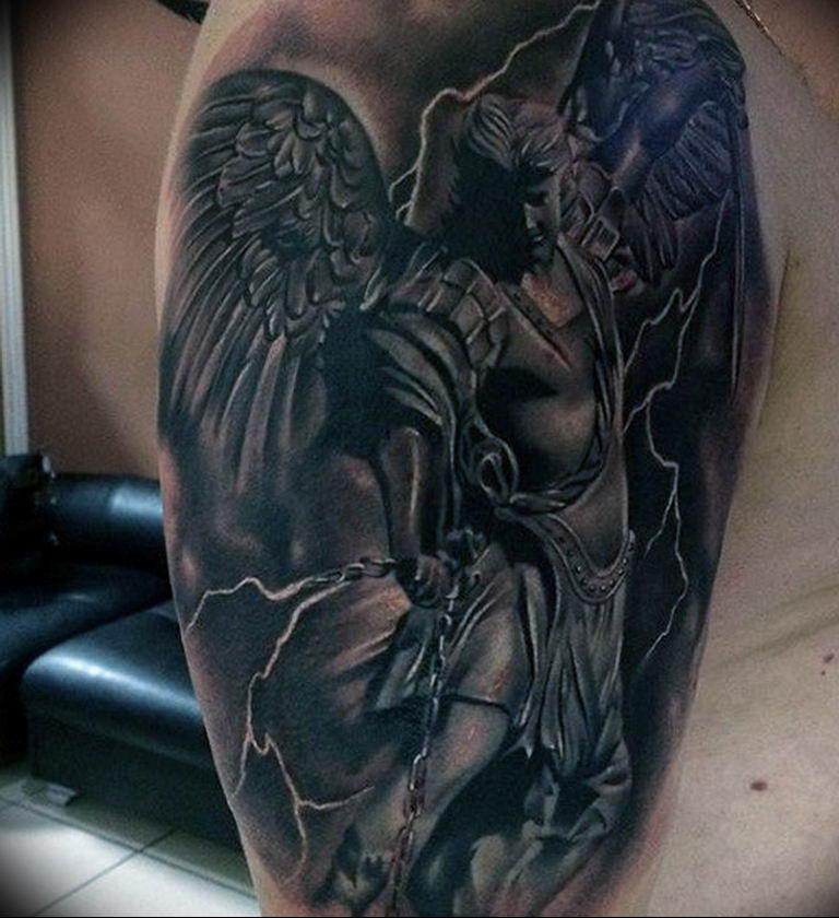 Фото красивые тату ангелов 12.08.2019 №028 - beautiful angels tattoos - tatufoto.com