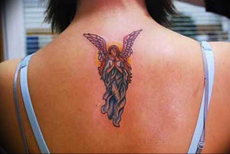 Фото красивые тату ангелов 12.08.2019 №029 - beautiful angels tattoos - tatufoto.com