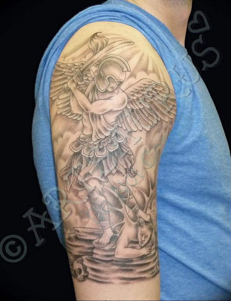 Фото красивые тату ангелов 12.08.2019 №034 - beautiful angels tattoos - tatufoto.com