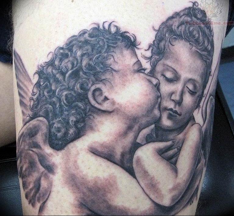Фото красивые тату ангелов 12.08.2019 №048 - beautiful angels tattoos - tatufoto.com
