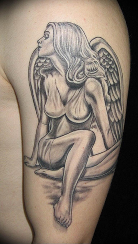 Фото красивые тату ангелов 12.08.2019 №054 - beautiful angels tattoos - tatufoto.com