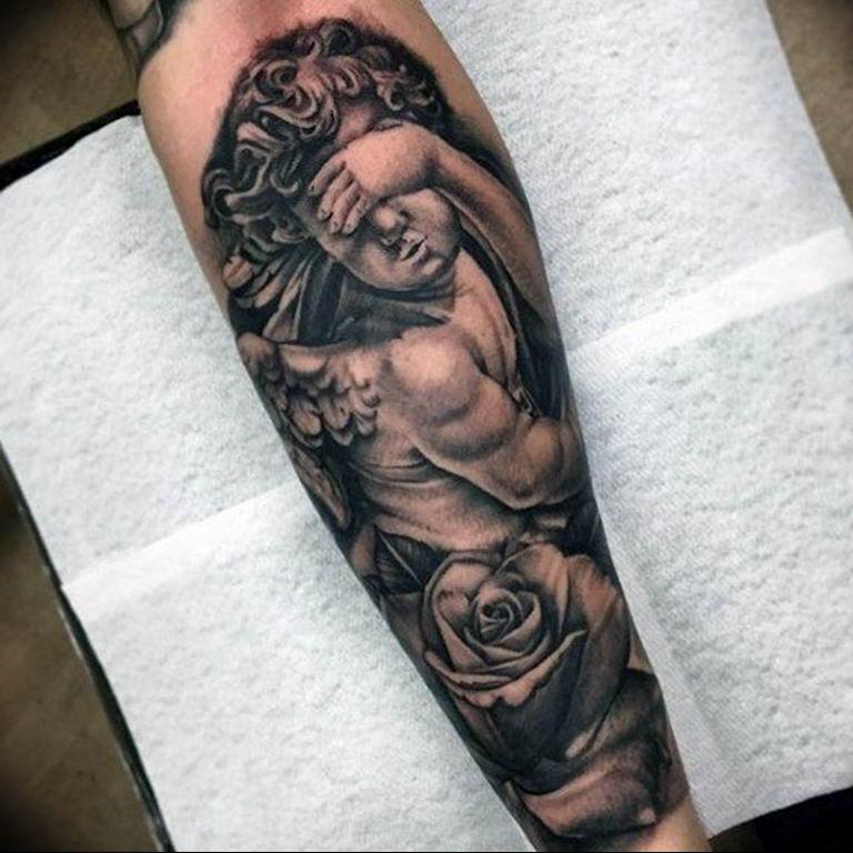 Фото красивые тату ангелов 12.08.2019 №063 - beautiful angels tattoos - tatufoto.com