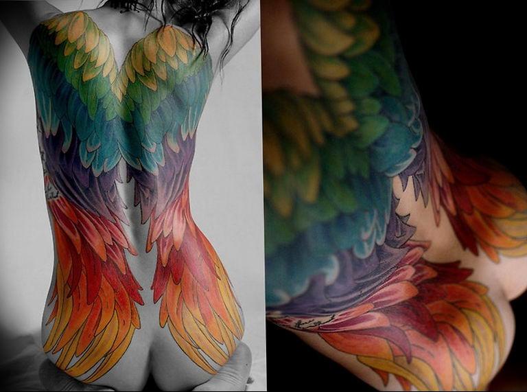 Фото красивые тату ангелов 12.08.2019 №065 - beautiful angels tattoos - tatufoto.com