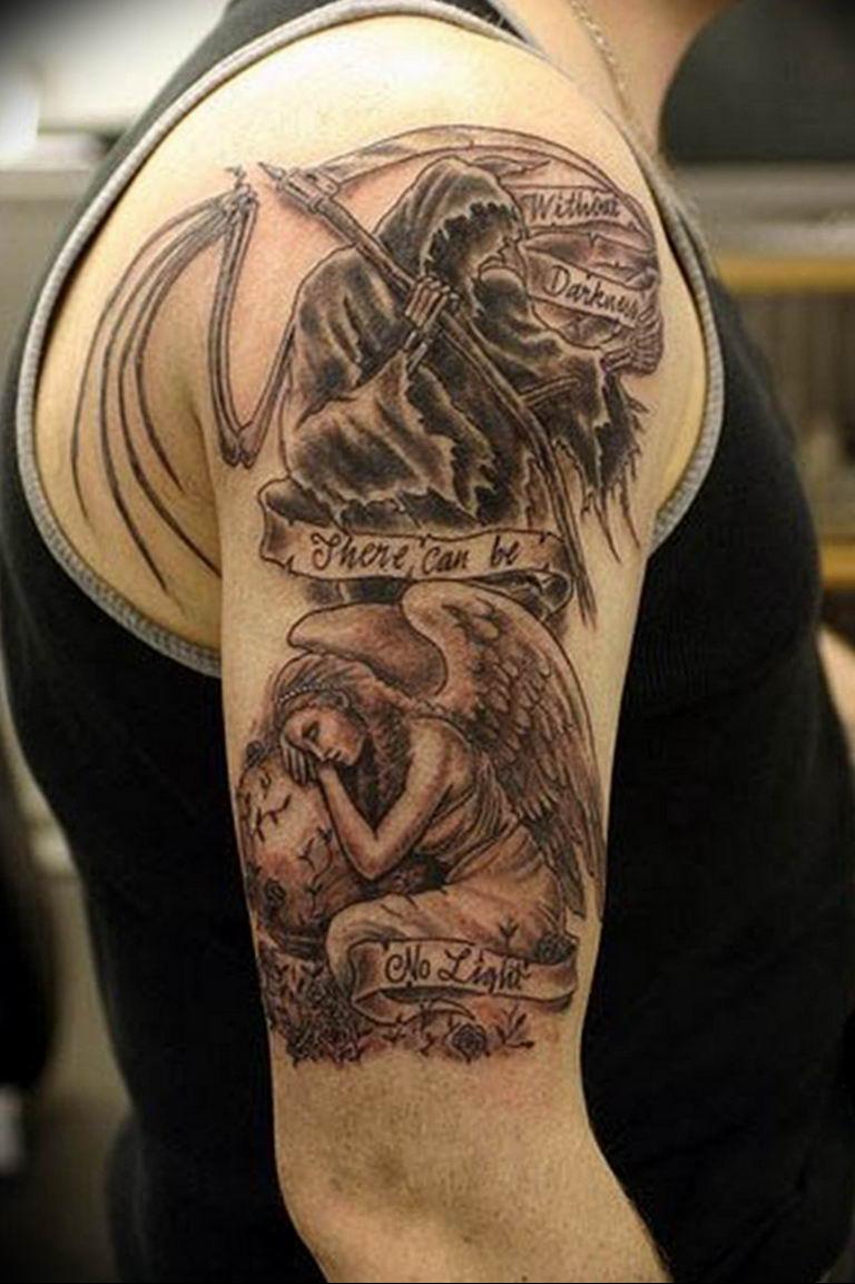 Фото красивые тату ангелов 12.08.2019 №067 - beautiful angels tattoos - tatufoto.com