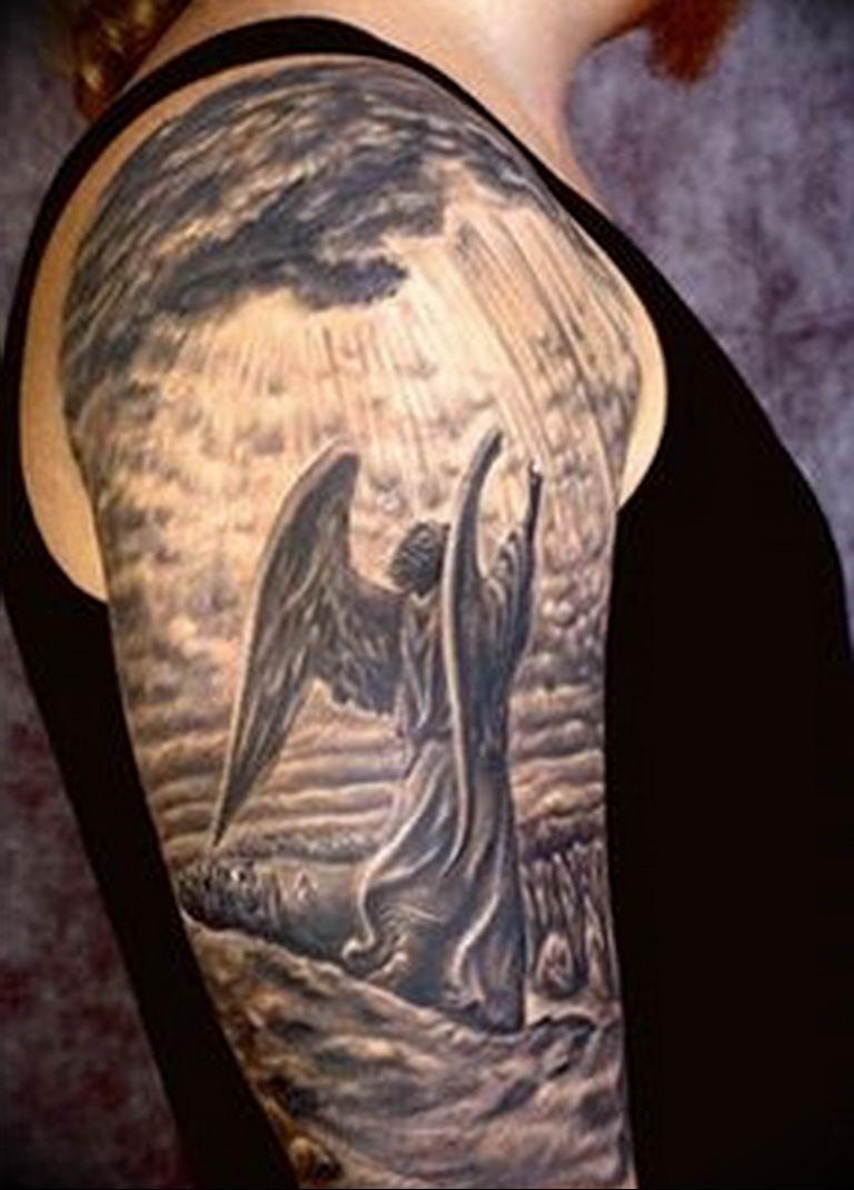 Фото красивые тату ангелов 12.08.2019 №081 - beautiful angels tattoos - tatufoto.com