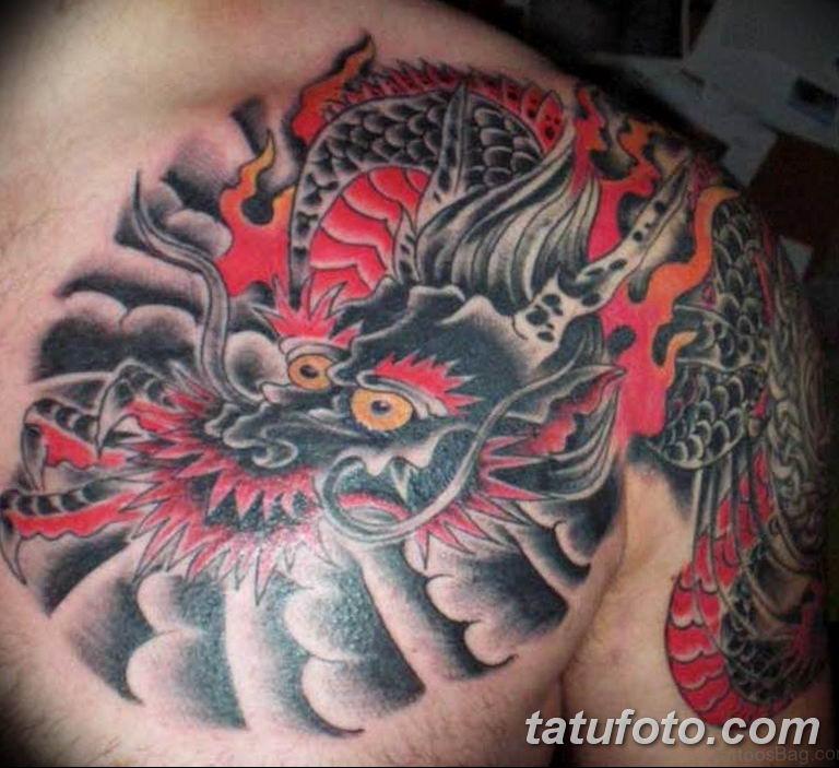 Фото красивые тату драконов 12.08.2019 №029 - beautiful dragon tattoos - tatufoto.com