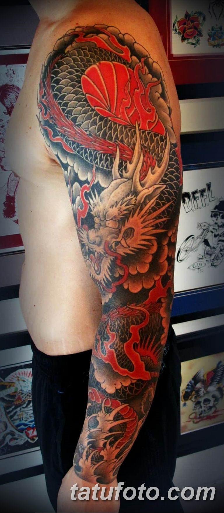Фото красивые тату драконов 12.08.2019 №030 - beautiful dragon tattoos - tatufoto.com