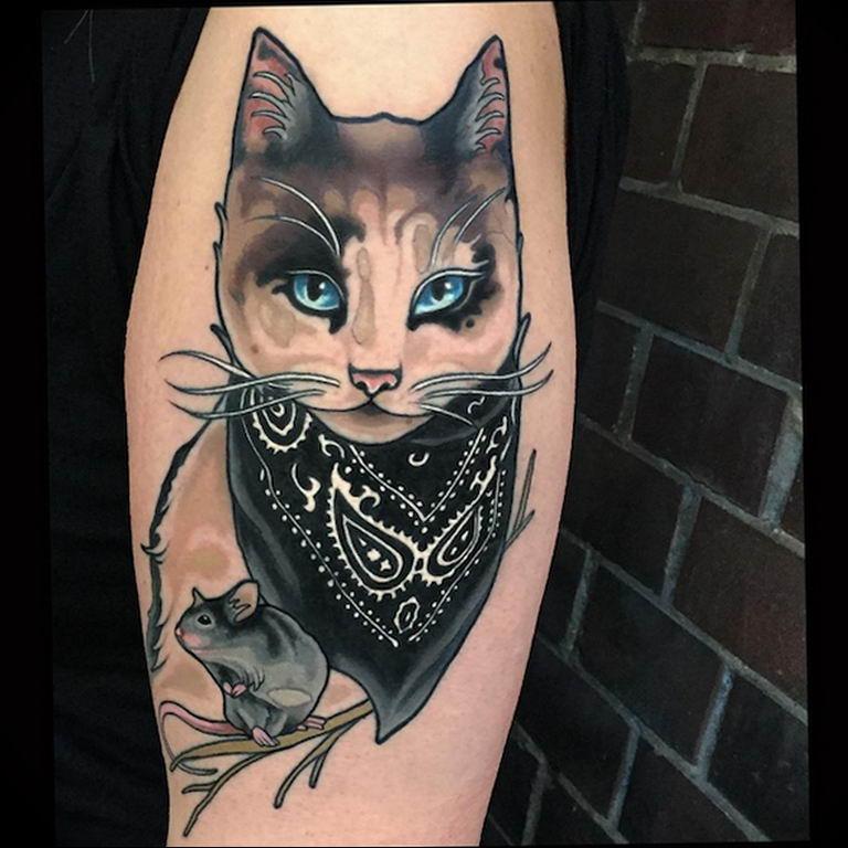 Фото красивые тату животных 12.08.2019 №007 - beautiful animal tattoos - tatufoto.com