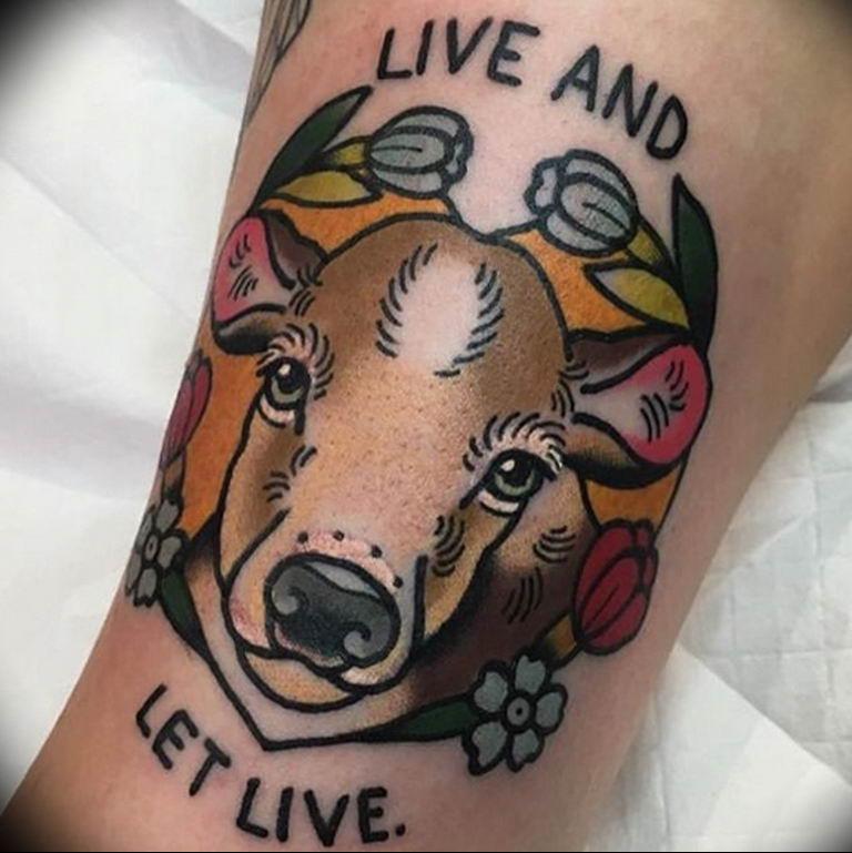 Фото красивые тату животных 12.08.2019 №020 - beautiful animal tattoos - tatufoto.com