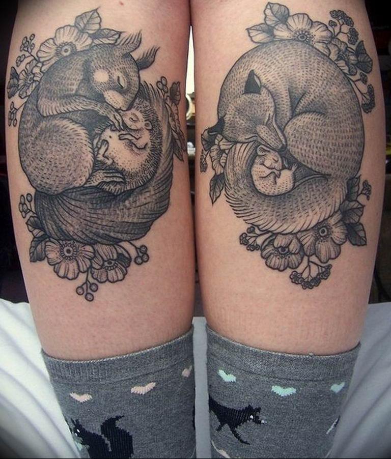 Фото красивые тату животных 12.08.2019 №031 - beautiful animal tattoos - tatufoto.com
