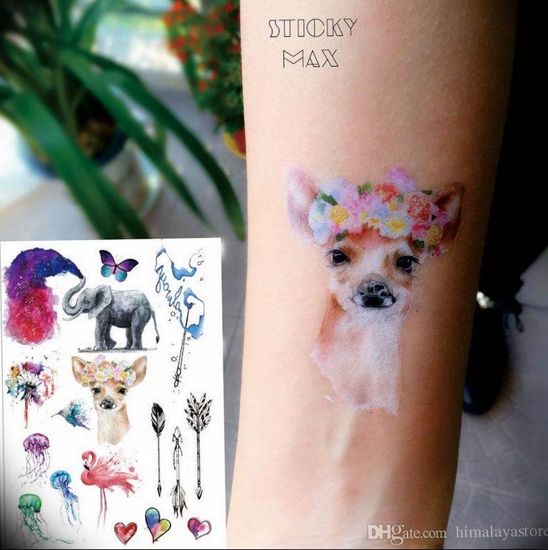 Фото красивые тату животных 12.08.2019 №033 - beautiful animal tattoos - tatufoto.com