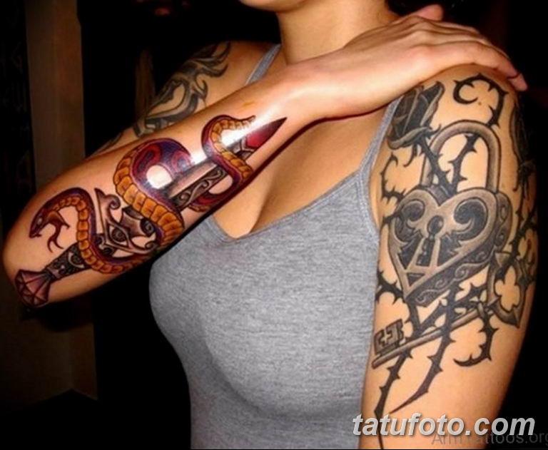 Фото красивые тату змеи 12.08.2019 №007 - beautiful snake tattoos - tatufoto.com