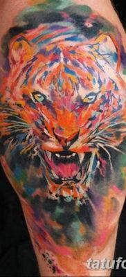 Фото красивые тату тигр 12.08.2019 №072 – beautiful tiger tattoos – tatufoto.com