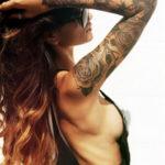 Фото красивый рукав тату 12.08.2019 №066 - beautiful sleeve tattoo - tatufoto.com