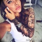 Фото красивый рукав тату 12.08.2019 №097 - beautiful sleeve tattoo - tatufoto.com