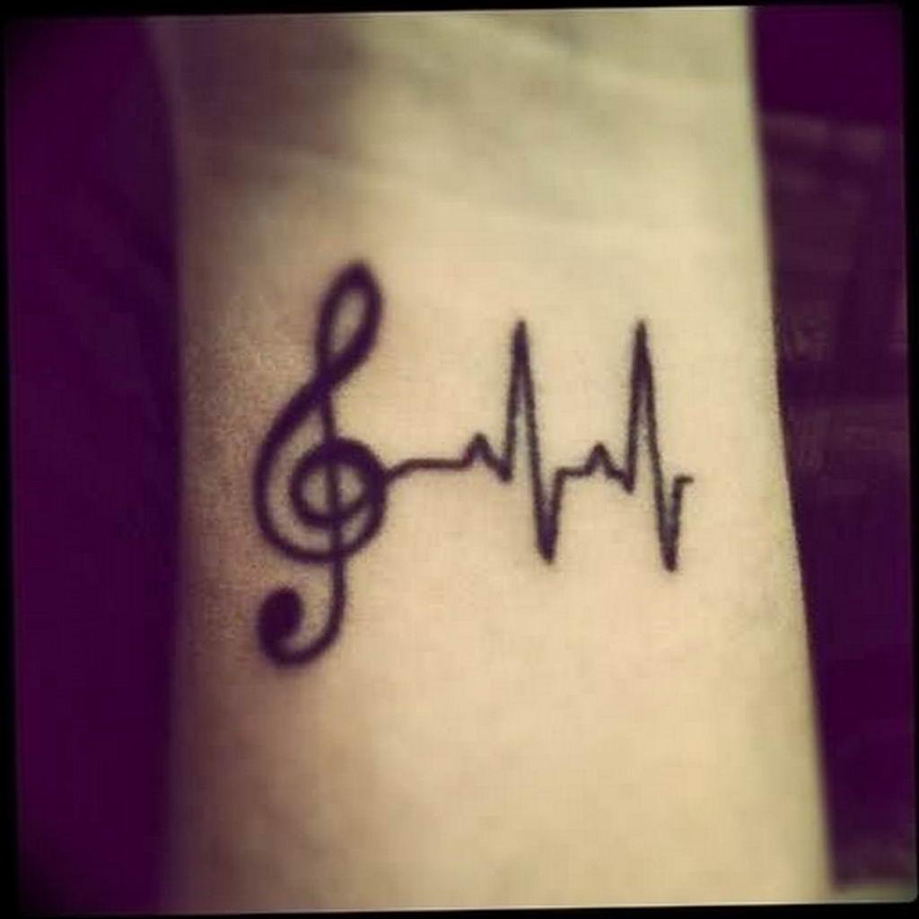 Фото музыкальный ключ тату 21.08.2019 №004 - musical key tattoo - tatufoto.com