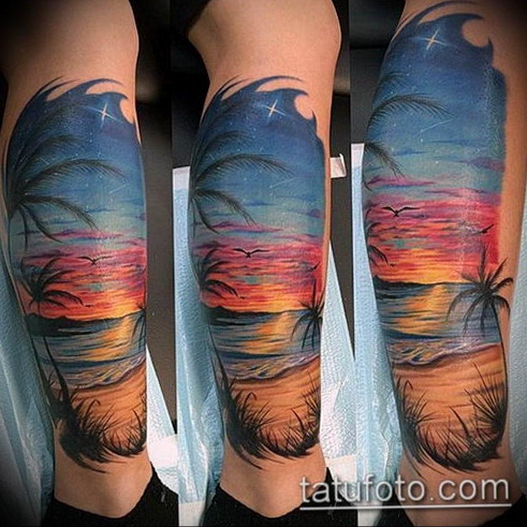 Фото пример тату океан 13.08.2019 №024 - ocean tattoo - tatufoto.com