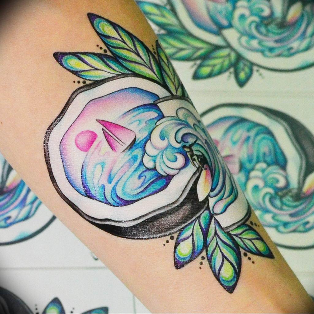Фото пример тату океан 13.08.2019 №038 - ocean tattoo - tatufoto.com