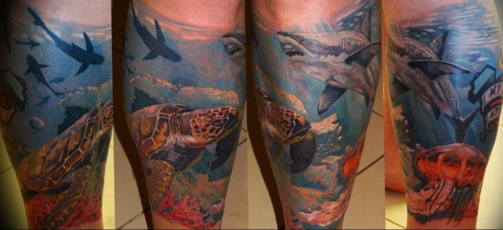 Фото пример тату океан 13.08.2019 №048 - ocean tattoo - tatufoto.com