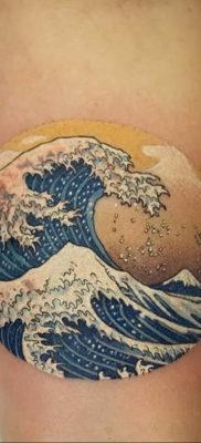 Фото пример тату океан 13.08.2019 №050 – ocean tattoo – tatufoto.com