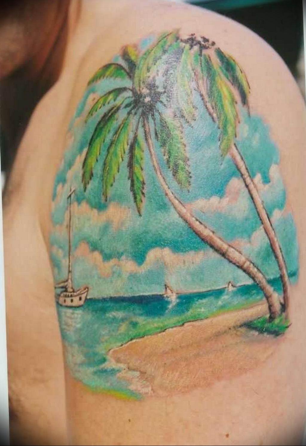 Фото пример тату океан 13.08.2019 №053 - ocean tattoo - tatufoto.com
