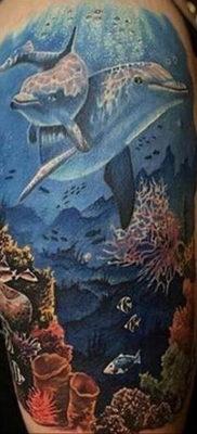 Фото пример тату океан 13.08.2019 №054 – ocean tattoo – tatufoto.com