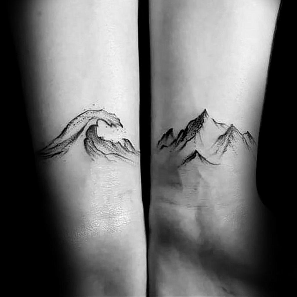 Фото пример тату океан 13.08.2019 №072 - ocean tattoo - tatufoto.com