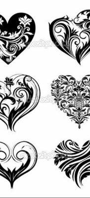 Фото сердце тату эскиз маленький 14.08.2019 №004 – heart tattoo sketch – tatufoto.com