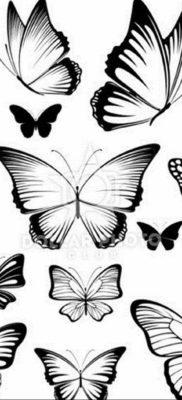 Фото тату бабочка маленькая эскиз 14.08.2019 №004 – butterfly tattoo small – tatufoto.com