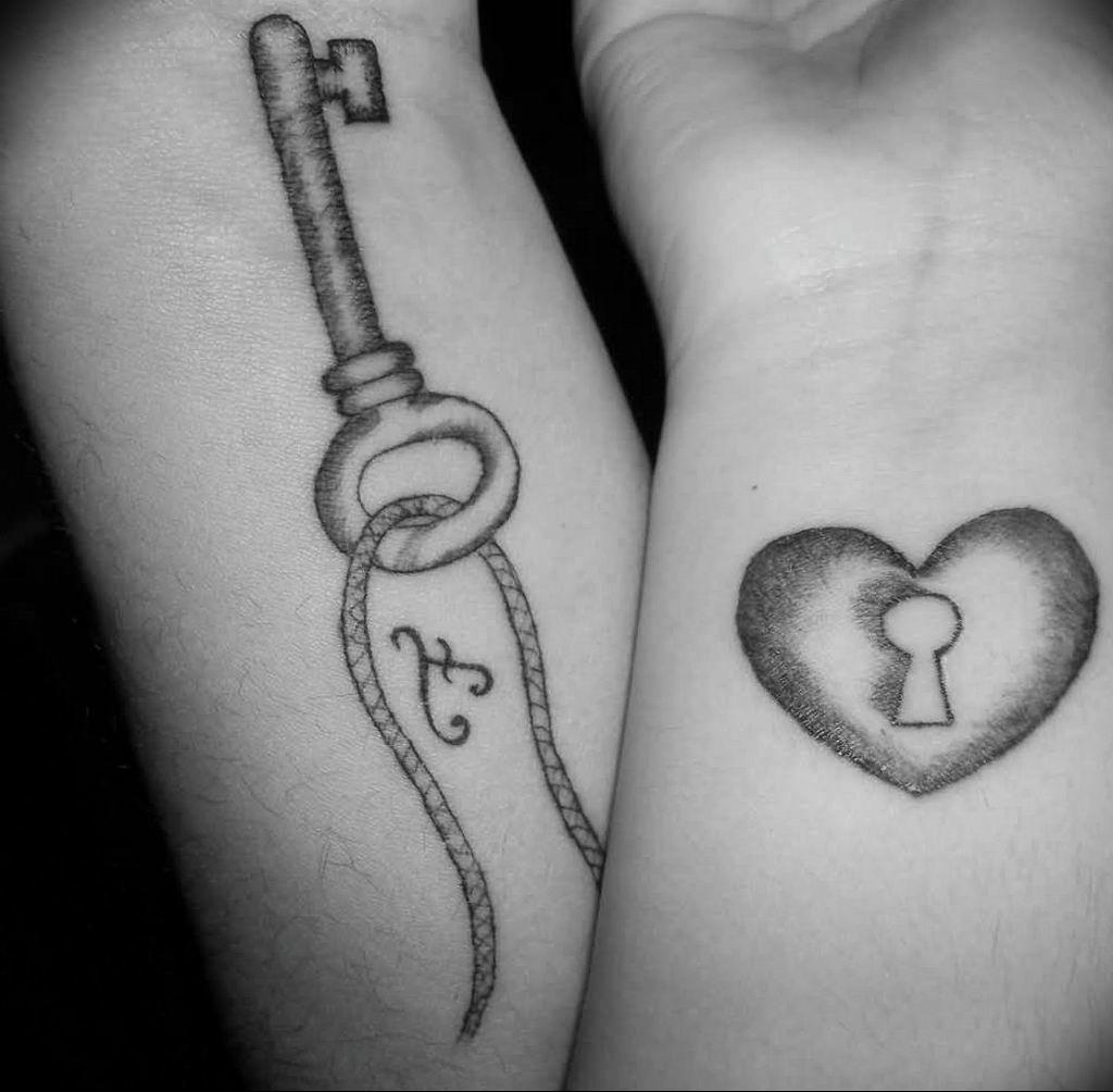 Фото тату замок и ключ 21.08.2019 №065 - tattoo lock and key - tatufoto.com