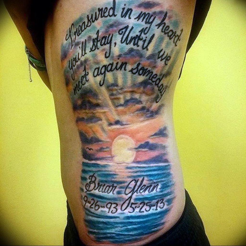 Фото тату океан 13.08.2019 №073 - ocean tattoo - tatufoto.com