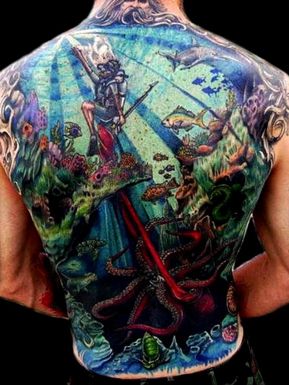 Фото тату океан 13.08.2019 №094 - ocean tattoo - tatufoto.com