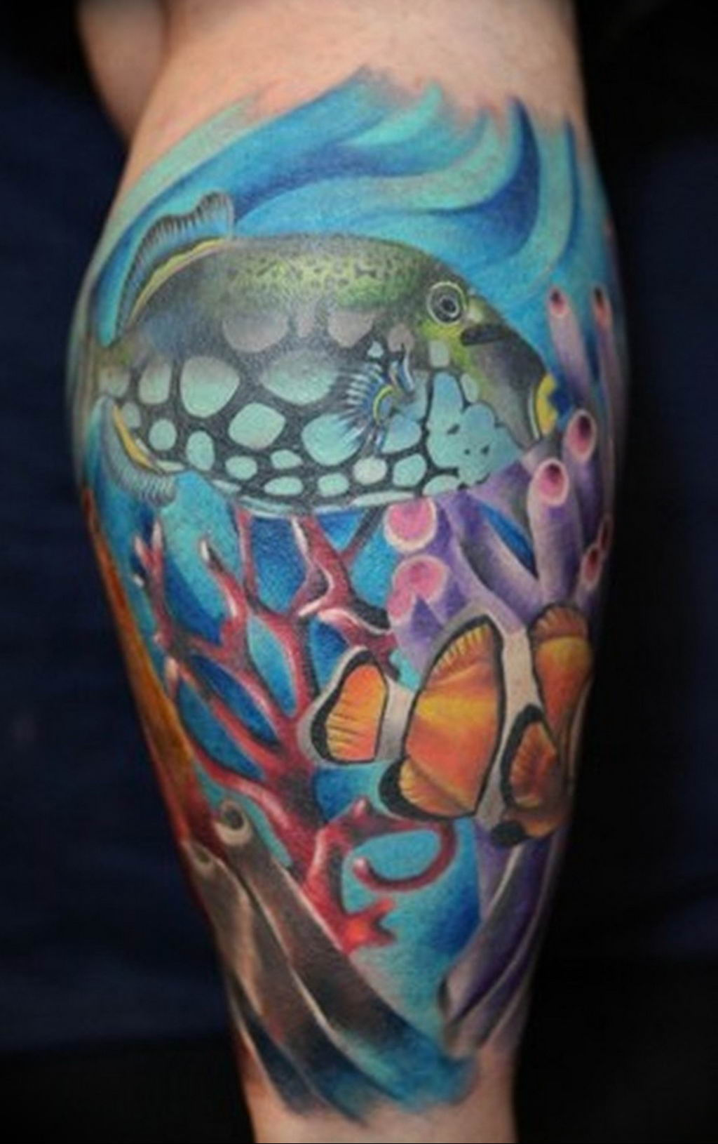 Фото тату океан 13.08.2019 №106 - ocean tattoo - tatufoto.com