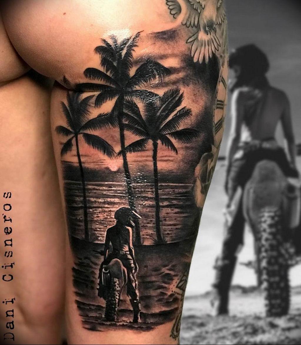 Фото тату океан 13.08.2019 №111 - ocean tattoo - tatufoto.com