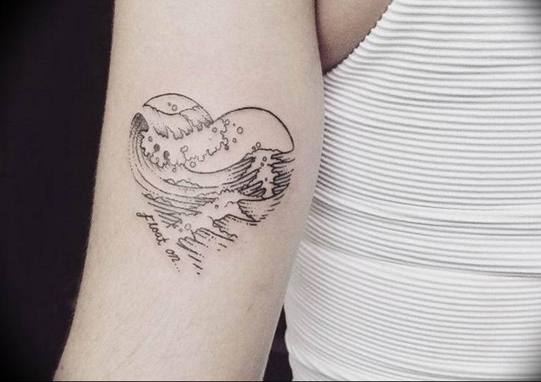 Фото тату сердце океана 13.08.2019 №013 - ocean heart tattoo - tatufoto.com