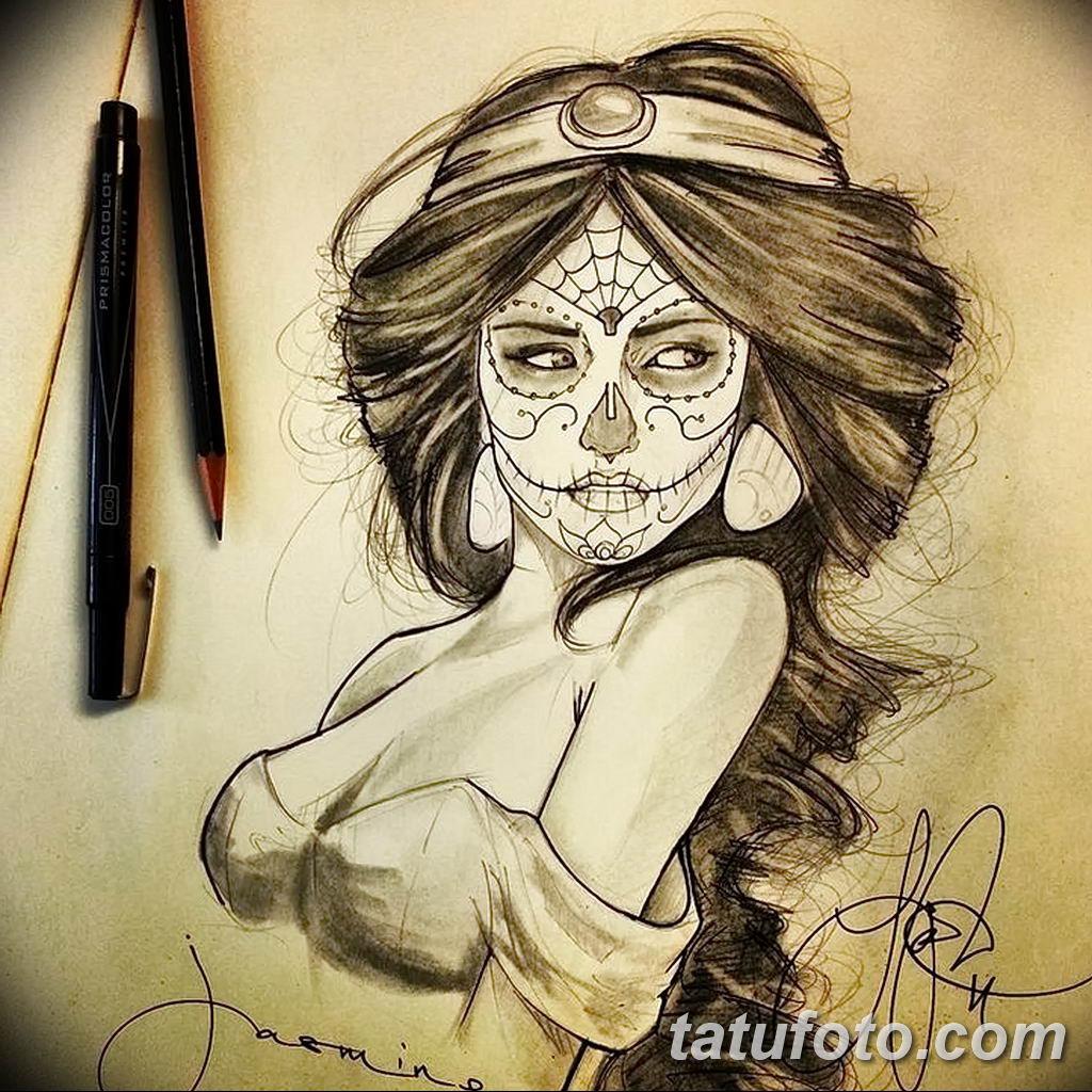 Фото эскиза тату жасмин 22.08.2019 №008 - jasmine tattoo sketch - tatufoto.com