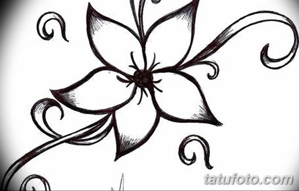 Фото эскиза тату жасмин 22.08.2019 №013 - jasmine tattoo sketch - tatufoto.com
