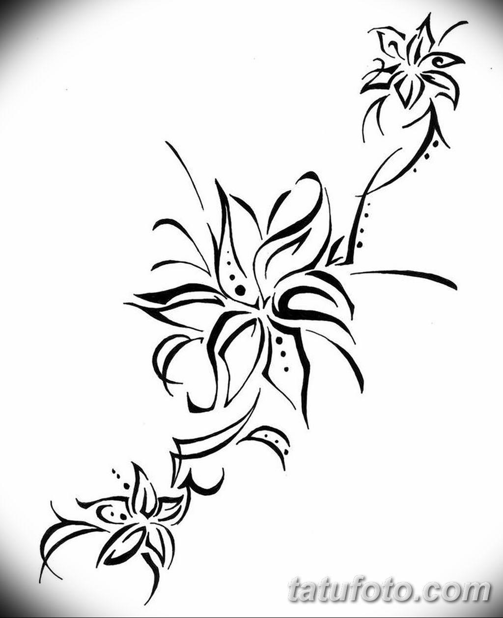 Фото эскиза тату жасмин 22.08.2019 №014 - jasmine tattoo sketch - tatufoto.com