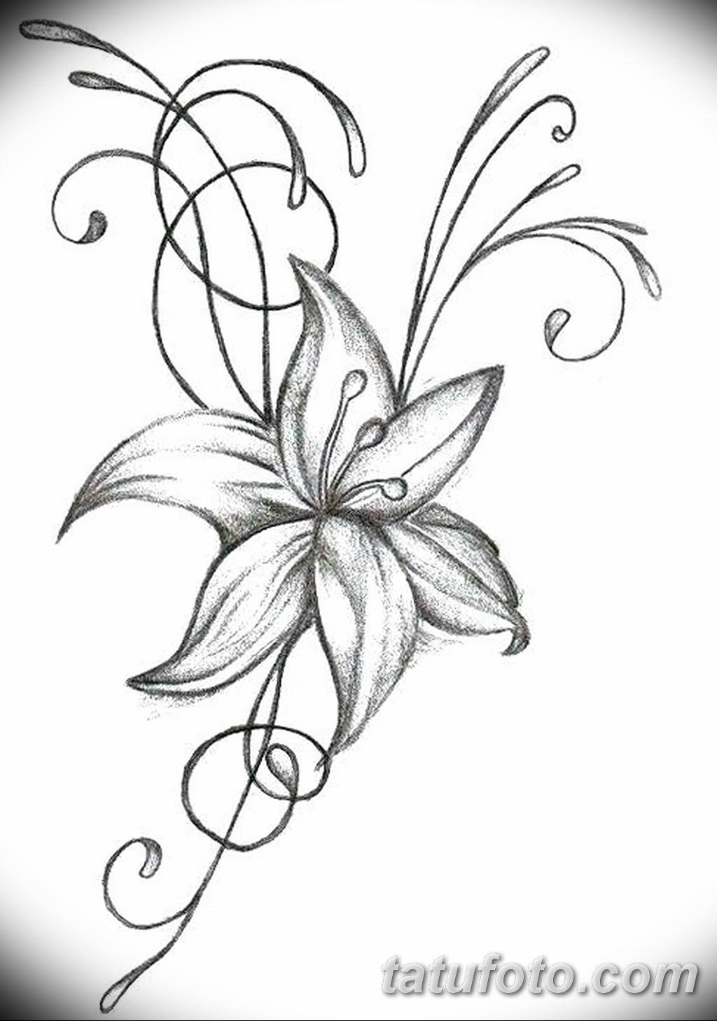 Фото эскиза тату жасмин 22.08.2019 №018 - jasmine tattoo sketch - tatufoto.com