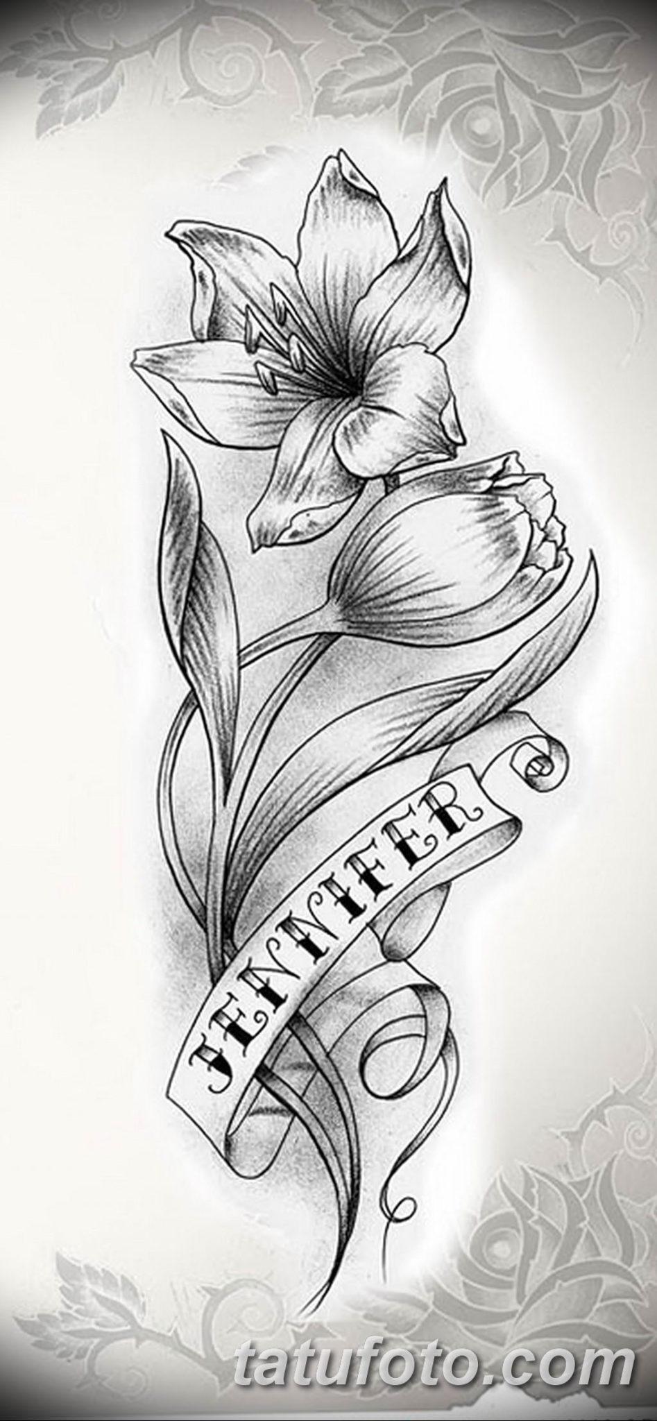 Фото эскиза тату жасмин 22.08.2019 №037 - jasmine tattoo sketch - tatufoto.com