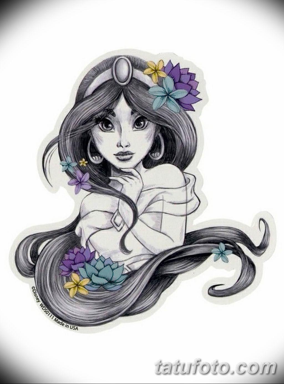 Фото эскиза тату жасмин 22.08.2019 №039 - jasmine tattoo sketch - tatufoto.com
