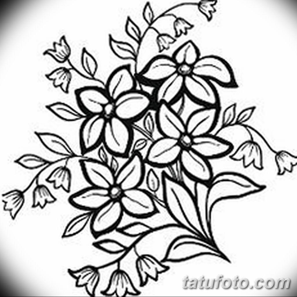 Фото эскиза тату жасмин 22.08.2019 №049 - jasmine tattoo sketch - tatufoto.com
