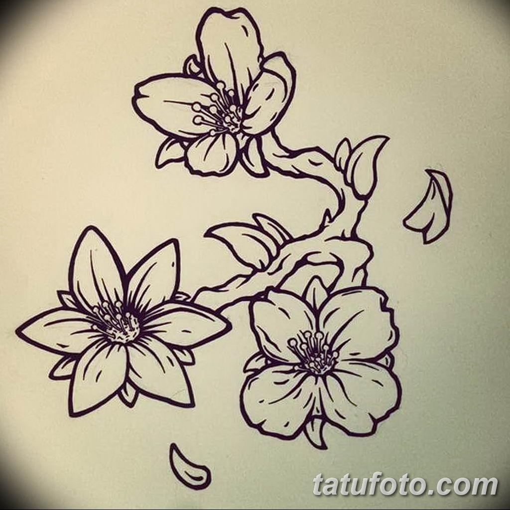 Фото эскиза тату жасмин 22.08.2019 №059 - jasmine tattoo sketch - tatufoto.com