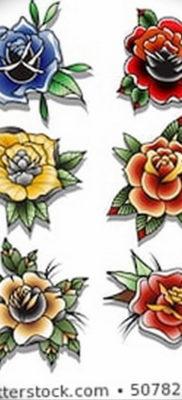 Фото эскиз маленькой розы тату 14.08.2019 №045 – sketch of a small rose tat – tatufoto.com